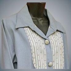 Denim Dress With Rhinestones I. Magnin XL