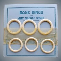 1930s Natural Bone Rings Old Sewing Notions