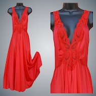 Olga Nightgown Fire Engine Red Size Large