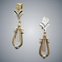 Vintage Damascene Clip Earrings Spain Toledo Ware