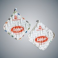 Vintage Hot Pads Eddy's Bakery Boise Idaho Advertising