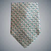 Superb Hermes Silk Necktie Celery Peach Perfect