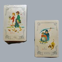 2 Decks of Playing Cards Normal Rockwell Fall Winter