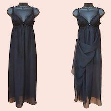 Grecian Wrap Nightgown Built In Bra Medium