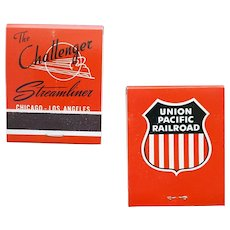 1950s UPRR Challenger Streamline Railroad Matchbooks