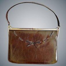 1960s Vinyl Air Step Handbag Purse Minty