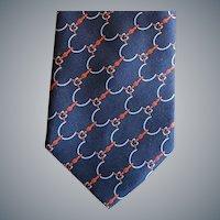 Vintage Valentino Silk Necktie Paris Rome Beverly Hills