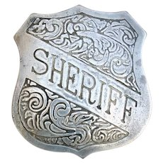 Heavy Metal Sheriff Badge Fantasy Fun