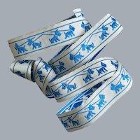 Vintage Ribbon Blue Scottish Terrier Dogs Trim