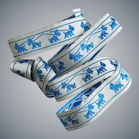 Vintage Ribbon Blue Scottish Terrier Dogs