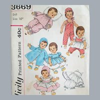 16 inch Baby Doll Clothes Wardrobe Sewing Pattern