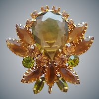 Gorgeous Juliana Autumn Brooch or Pendant