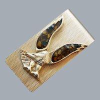 Men's Vintage Money Clip Eagle Tiger Eye