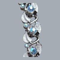 Trifari Rhinestone Bracelet Flashy Aurora Borealis Blue