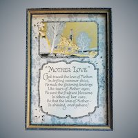 1920s Art Deco Motto Print Stepped Frame