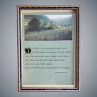 1930s Irish Blessing Framed Motto