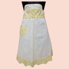 1940s Cotton Half Apron Size Small to Medium