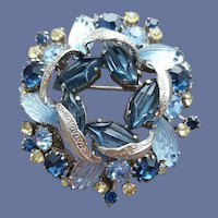 1960s Rhinestone Brooch Special Art Glass Sets