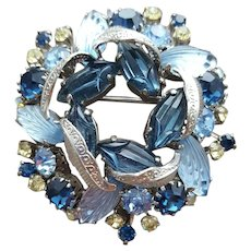 1960s Rhinestone Brooch Special Glass Sets