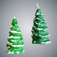 1970s Christmas Tree Shaped Candles Dial Soap Premium