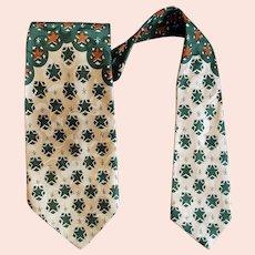 Men's 1950s Vintage Necktie Rayon Jacquard