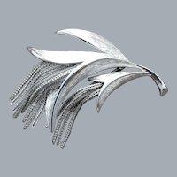 Mid Century Modern Brooch Fluid Chain Fringe