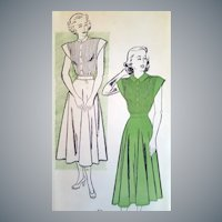 1940s Dress Sewing Pattern Bust 32 Uncut