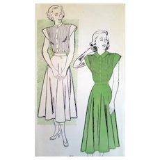 1940s Dress Sewing Pattern Bust 32 Uncut