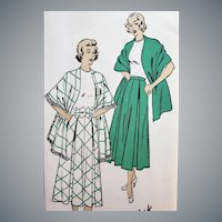 1940s Vintage Sewing Pattern Skirt and Belt Size Small
