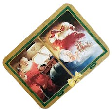 Coca Cola Santa Claus Playing Cards in Tin 1997