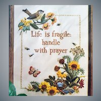 Embroidery Kit Life is Fragile Handle With Prayer