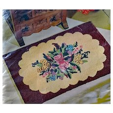 Punched Rug Kit Old Fashioned Floral 24 X 36 Inches