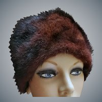 1960s Mink Hat Warm Classy Minty by Marche'