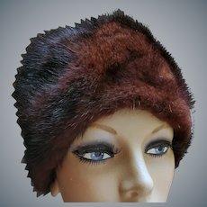 1960s Mink Hat Warm Classy Minty by Marche'