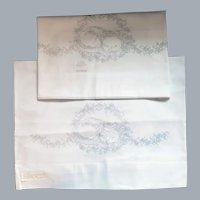 Stamped Pillowcases to Embroider Sleeping Kitten