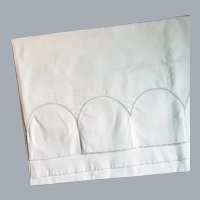 Vintage Cotton Pillow Case Tubing Punched for Crochet