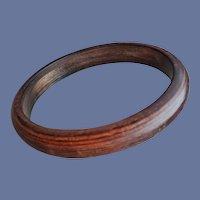 Resin Washed Bakelite Bangle Beautiful Brown