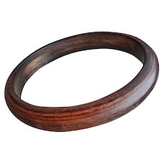 Resin Washed Bakelite Bangle Beautiful Brown
