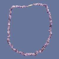 Vintage Natural Amethyst Nugget Bead Necklace