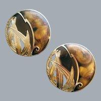 Edgar Berebi Gorgeous Gold and Brown Earrings