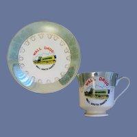 Wall Drug Souvenir Cup and Saucer South Dakota