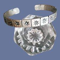 Sterling Silver Sun Cuff Bracelet 22.6 Grams Sm - Med