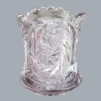 Antique Victorian Spooner EAPG Clear Turning Purple