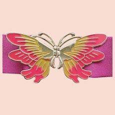 1970s Butterfly Stretch Belt Adjustable S M L