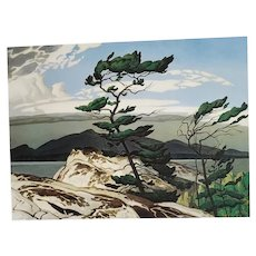A.J. Casson Print White Pines Canadian Artist