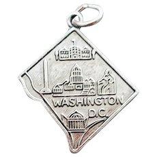 Sterling Silver Bracelet Charm Washington D.C.
