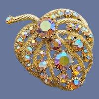 Glorious 1960s Aurora Borealis Brooch