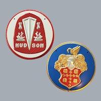 1950s Cereal Premiums Tin Car Emblems Hudson Packard