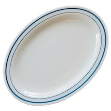 Pyrex Opal Tableware Platter Turquoise White Mint