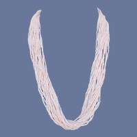 20 Strand Pink Seed Bead Necklace 25 inches